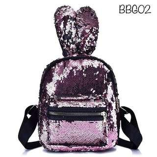 Tas Backpack Bunny Sequin