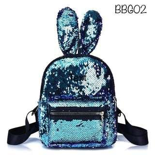 Tas Backpack Bunny Sequin Anak