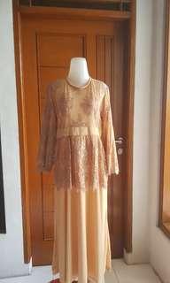 Dress Gamis Warna Cream