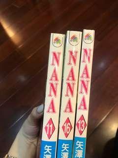 Nana漫畫(三本)