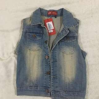 vest jeans with tag ( lokal brand )