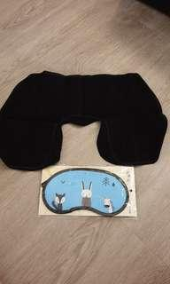 Brand new travel pillow & eyemask