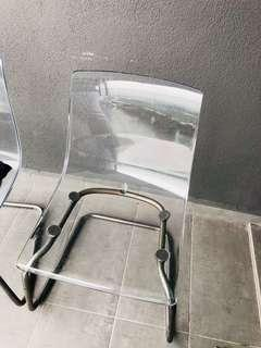 Ikea transparent chair(one pair)
