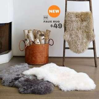 【BRAND NEW/INSTOCK】Thick Faux Fur Rug