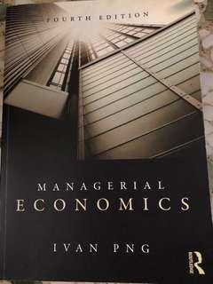 Managerial Economics - Ivan PNG (Fourth Edition)