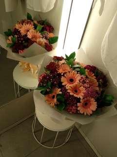 pink gerberas (10) bouquet