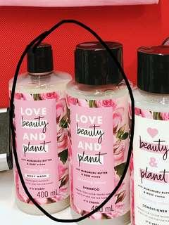 🚚 love beauty and planet shampoo and body wash