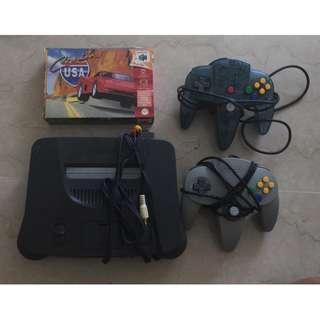 Nintendo 64 Console with 2 Game Controllers and 1 Game (Cruising USA)