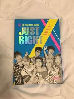 GOT7 Jinyoung Signed Just Right Album (Authentic - Hand Signed)