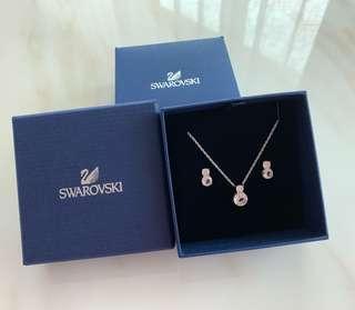 100%Real & New Swarovski Earring & Necklace Set 頸鍊耳環套裝