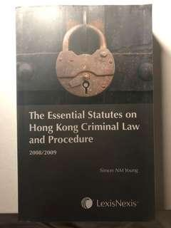 The Essential Statutes on Hong Kong Criminal Law and Procedure