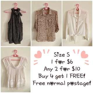 💛Any 2 for $10 - Size S (B4)