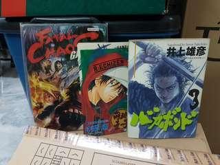 Vagabond Inoue Takehiko + etc (3 books)