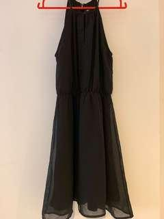 H&M - Halter Neck Black Dress