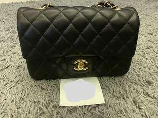 🚚 Chanel Inspired Rectangular Mini Quilted 20cm Classic Bag
