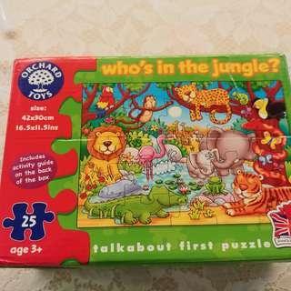 Orchard toys 英國進口二十五塊砌圖 Puzzle,Ade 3+