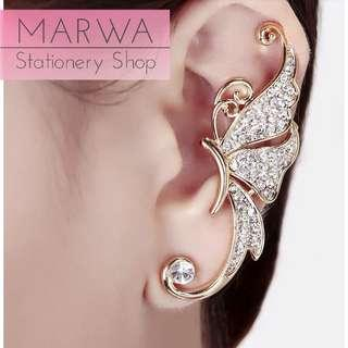 1pc Gorgeous Butterfly With Rhinestone Ear Cuff Earring (E117)