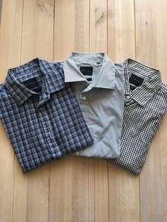 🚚 Sisley 襯衫 長袖 regular fit 二手 每件290 有5件