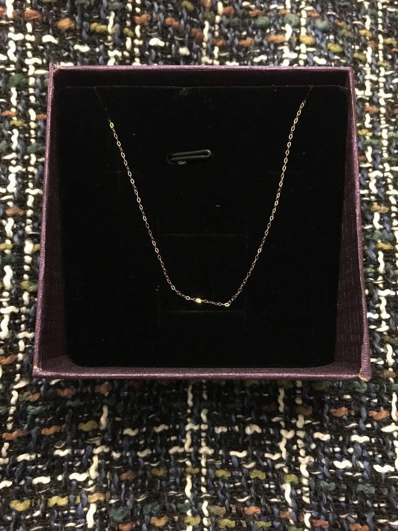 18k necklace 18k 幼金鏈