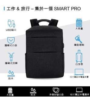 實用袋 文青背包抗水USB充電雙肩電腦背包