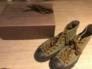 The Real McCoys Training Shoe (Olive)