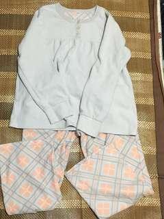 ❤️絨毛睡衣1set❤️