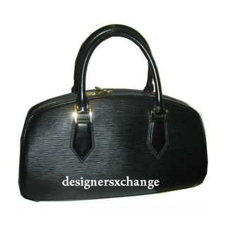 Louis Vuitton Black Epi JASMIN Handbag (Gold hardware) M52852