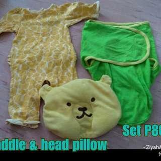 Swaddle,pillow,free onesies
