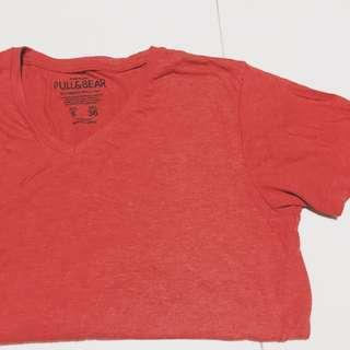 🚚 Pull & bear red t-shirt