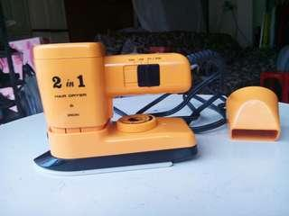 Minimate 2 in 1 hair dryer + iron