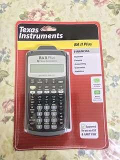 CFA NEW IN SEALED Box Texas Instruments BA II Plus Financial Calculator actuarial calculator
