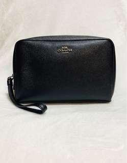 Coach Boxy Cosmetic Pouch Makeup Bag