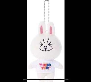 「徵」line friends cony 兔兔 thank you 公仔吊飾 掛飾 keychain 匙扣