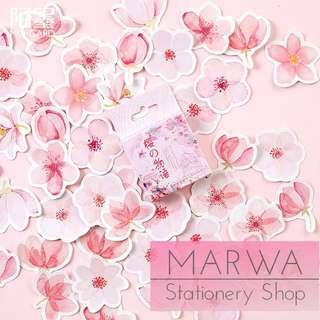 45pcs Pink Sakura Cherry Blossom Sticker Pack (Mo Card-MC071)