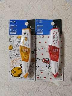 🚚 Gudetama / Hello Kitty Plus MR2 Correction Tape