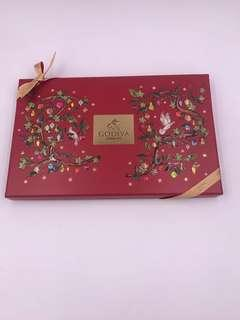 GODIVA Holiday Chocolate Carré Gift Box 15pcs (原價$225)Best Before 21/12/2019