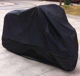 Motorbike cover with black buckle