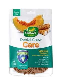 Happi Doggy Dental Chew Care Pumpkin & Mountain Yam (Digestive Support) 150g