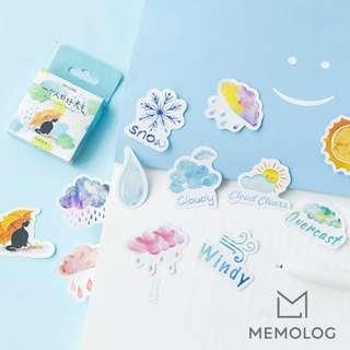 46pcs Watercolor Fine Weather Sticker Pack