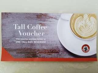 Pacific Coffee Tall Coffee Voucher