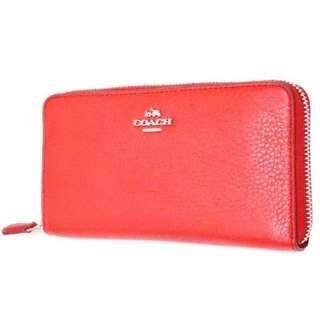 Coach Long wallet round fastener. 60% OFF Clearance Sales original price: MYR540!