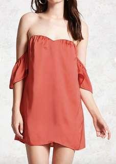 Forever21 Off Shoulder Satin Dress
