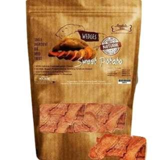 Absolute Bites Air Dried Sweet Potato Wedges Dog Treats 300g