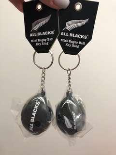 All Blacks key ring x 2