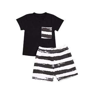 🚚 Stripe Shorts + Shirt Set