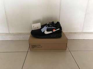Off White x Nike AM90 Black US11