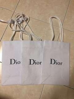Dior Paper Bag 3 Units