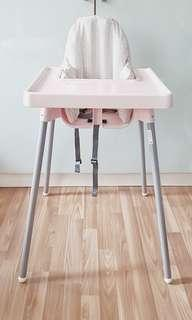 Ikea Baby High Chair Pink