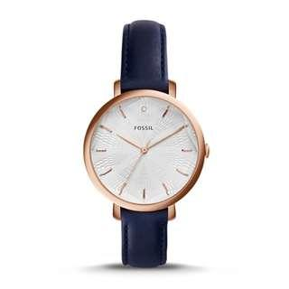 🚚 FOSSIL INCANDESA NAVY LEATHER WATCH