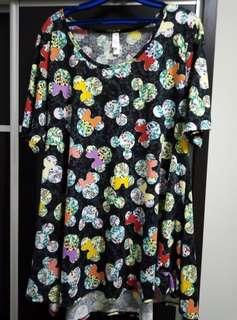 Brand New without Tag. Mickey & Mickey Floral Top
